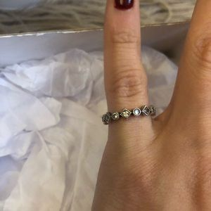 Pandora Alluring Brilliant Princess Stackable Ring